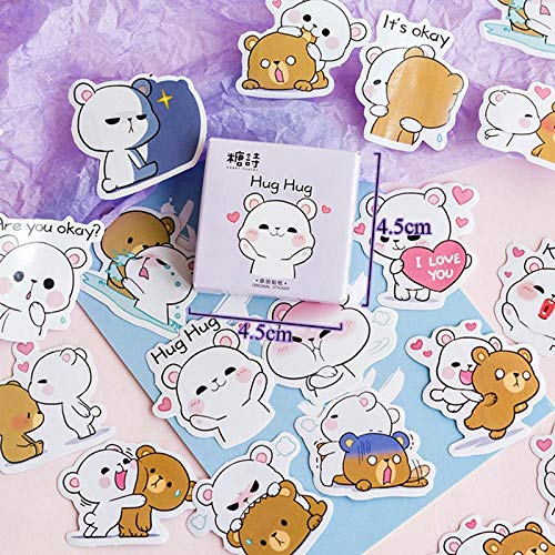 Cartoon stickers voor kinderen dagboek decoratie Kawaii beer papier sticker scrapbooking Bullet Journal stickers 45 stuks/Los