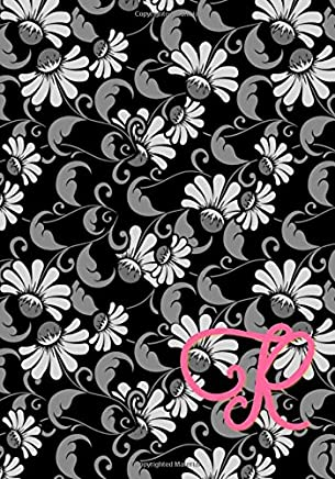 R: Monogram: Classic Journal/Notebook for Writing/Motivational/Mother/Sister/Father/Brother/Friend/Cousin/Aunt/Daughter/Male/Female/7 x 10 Inches *110 pages* Floral Pink Letter