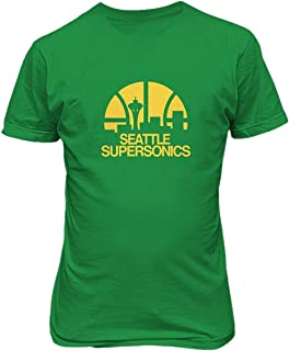 Seattle Supersonics Basketball Casual Mens Cotton T Shirts