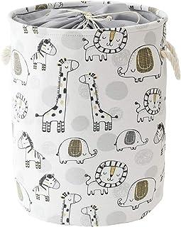Panier à linge pliable pour bébé, cadeau vide, décoration de chambre d'enfant, jouets, panier à linge avec cordon de serra...