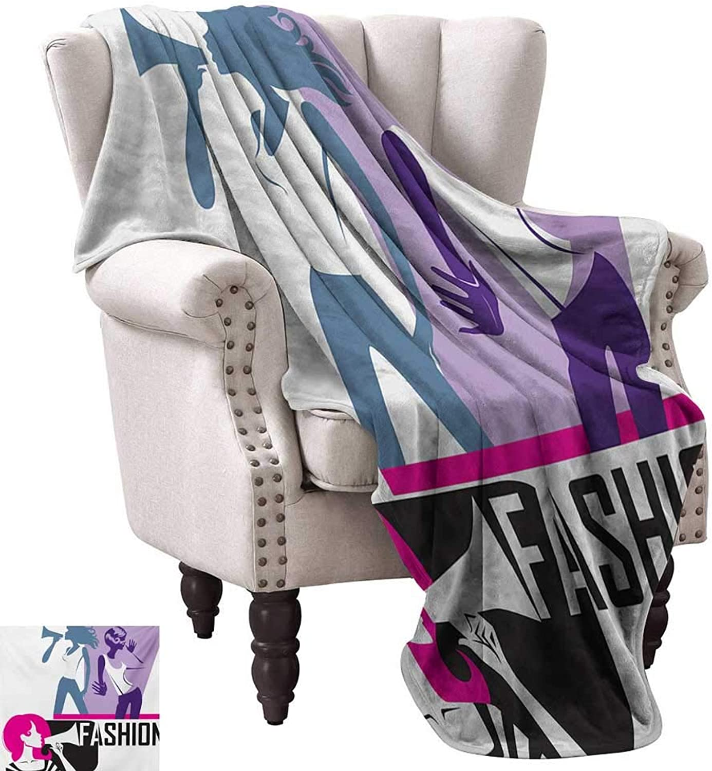 Lightweight Blanket,Composition of Girls Yelling into Megaphone Modern Stylish Fashion Themed Art 60 x50 ,Super Soft and Comfortable,Suitable for Sofas,Chairs,beds