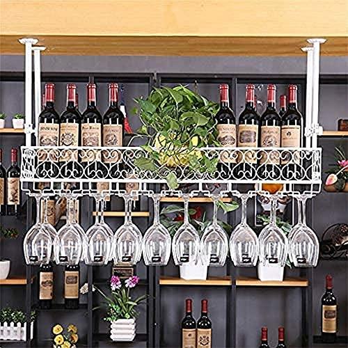 Porta-vinhos Teto Porta-copos, Bar, Restaurante, Suspensão, Porta-copos, Suspensão, Ferro Retro Europeu Pendurado de cabeça para baixo Porta-copos de prateleira para garrafas de cerveja inve