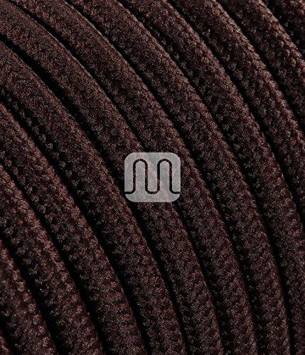 merlotti 20309Cable eléctrico Redondo h03vv-f 2x 0.75, marrón, 3m