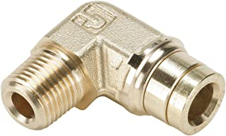 Parker 169PMTNS-6-8-pk5 Brass Push-to-Connect D.O.T. Fitting, Tube to Pipe, Brass, Push-to-Connect and NPTF 90 Degree Rigid Elbow, 3/8