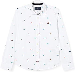 Tommy Hilfiger Dobby Shirt L//S Camicia Bambini e Ragazzi