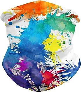 Nachhaltiges Schlauchtuch,Bandana Stirnband Schal Face Shield Motorradschal in verschiedenen Farben Nahtloses Halstuch Outdoortuch Rosennie 3PCS Multifunktionstuch f/ür Herren /& Damen