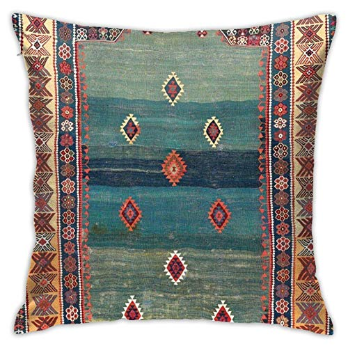 MeiMei2 Throw Pillow Cover 18x18 inch,Sivas Antique Turkish Niche Kilim Pillowcase for Sofa Couch Bedroom Living Room Pillows.