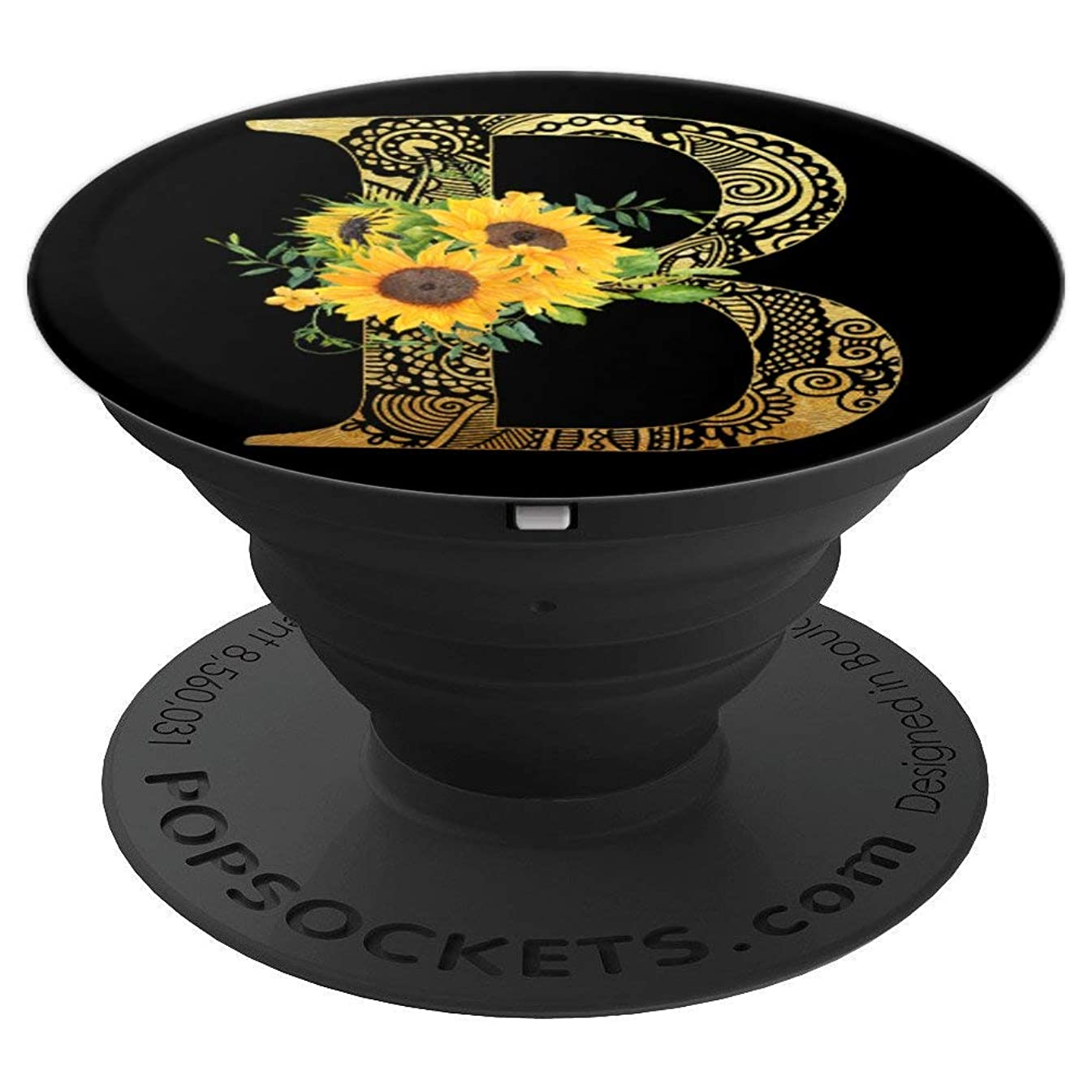 Sunflower Pop Socket Letter B - Phone Case Stand B Popsocket - PopSockets Grip and Stand for Phones and Tablets