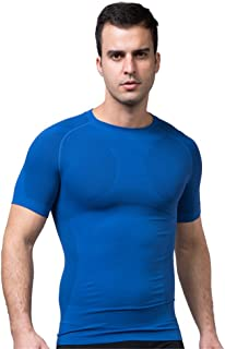FitnessSun - Mens Quick Dry T Shirt - Compression Tights Base Layer - Body Shaper Sports Muscle Shirt
