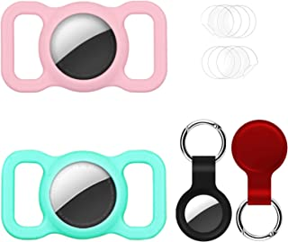 $21 » 2 Pack Protective Case Compatible with Airtag GPS Finder Dog Collar Pet Loop, 2 Pack Silicone Cover Holder for Air tag Key...