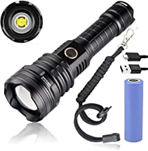 Garberiel Flashlight Super Bright XHP90 LED 5 Modes 5000 High Lumens Rechargeable Zoom Torch Light Waterproof with Battery...