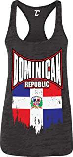 Torn Dominican Republic Flag - Dom Rep Pride Women's Racerback Tank Top