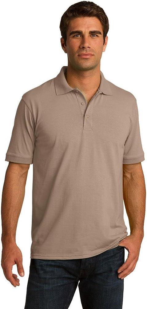 Port & Company Tall 5.5-Ounce Jersey Knit Polo Shirt, Sand, XXXX-Large Tall