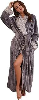 SUNBABY Thicker Long Flannel Sleepwear Women Man Imitation Fur Collar Bathrobes Warm Couple Pajamas