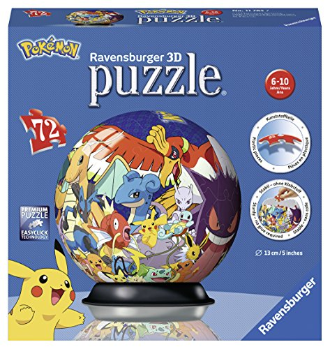 Ravensburger 11785 - Puzzle 3D Ball 72 p, Pokemon