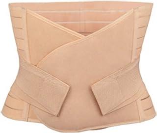 حزام خصر مريح للبطن مرن لتنحيف الجسم للنساء بدون خياطة بعد الولادة حزام الاستشفاء ملابس داخلية البطن (اللون: مشمش)
