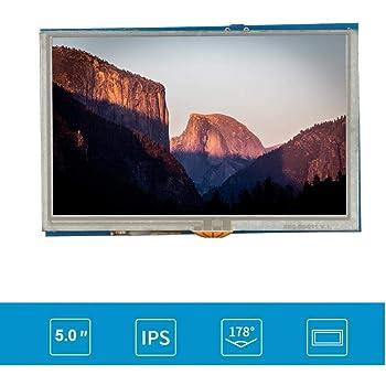 Tosuny Monitor portátil, Monitor de Pantalla táctil Monitor LCD para Juegos con Pantalla LCD HDMI de 5 Pulgadas Monitor Externo para Monitor Raspberry PI3 PI2 / B +: Amazon.es: Electrónica