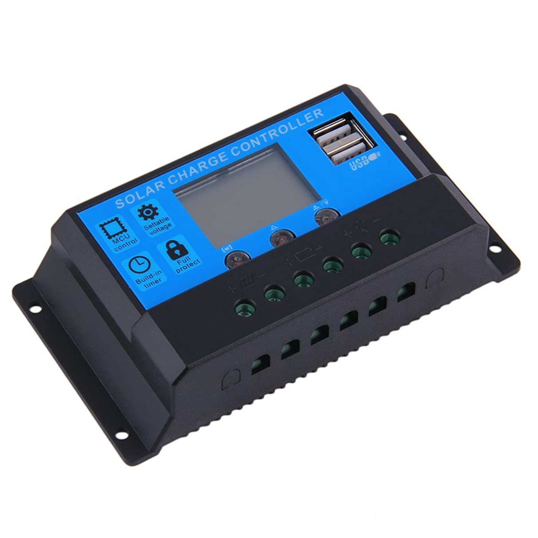 早い配偶者アンタゴニストyiteng ソーラーチャージャー 12V/24V 20/30A 自動認識 ジコントローラー LCD充電 電流ディスプレイ 液晶 USB付き ソーラーパネル バッテリレギュレータ 自動調整スイッチ 過負荷保護 (20A)