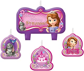Sofia The First Birthday Candle Set (Each) - Party Supplies