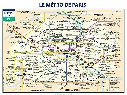 AFDRUKKEN-op-GEROLDE-CANVAS-metro-Paris-Ratp-Kaarten-Afbeelding-gedruckt-op-canvas-100%-katoen-Opgerolde-canvas-print-Kunstdruk-op-gerold-canvas-voor-wandd-Afmeting-95_X_128_cm