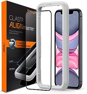 """Spigen, Vetro Temperato iPhone 11 / XR (6.1""""), Align Master, Copertura Totale, Installazione Semplice con Cornice di Allin..."""
