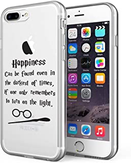 Litech™ Case for Apple iPhone 7 Plus/iPhone 8 Plus [Flexfit] Premium Clear Scratch-Resistant Cute Creative Artistic Design [Wireless Charging Compatible] (HQ)