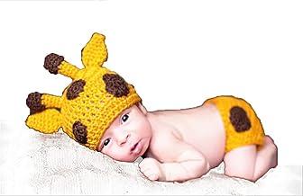Eshining [Ciervo] Ropa de bebés Recien Nacido Conjunros de bebés Tejido a mano para Fotografía Atrezzoo (BBTZ, Ciervo Amarillo