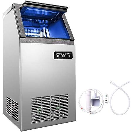 VEVOR Machine à Glaçons 220v Capable de Produire 60kg par 24heures Machine à Glace Commerciale Pour Cafés, Maisons, Restaurants, Bars, Hôtels