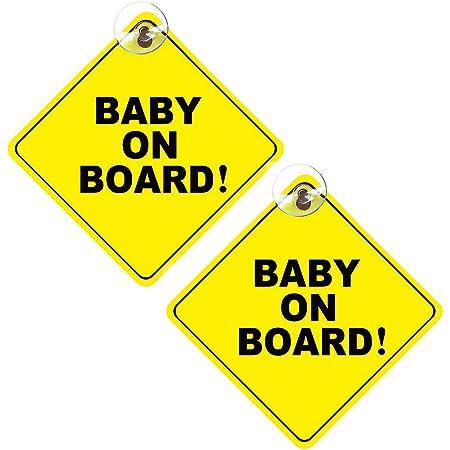Baby On Board Schild 2 Stück Abnehmbare Kinder Sicherheits Warnung Mit Saugnäpfen Auto