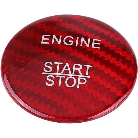 Keenso Auto Startknopf Aufkleber Kohlefaser Motor Startknopf Abdeckblende Dekorative Aufkleber Für A B C Glc Gla Cla Ml Gl Klasse W176 W246 W205 X253 X156 C117 Rot Auto