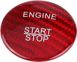 Botón de arranque del motor de fibra de carbono Cubierta, Tapa de Botones de Arranque (rojo)