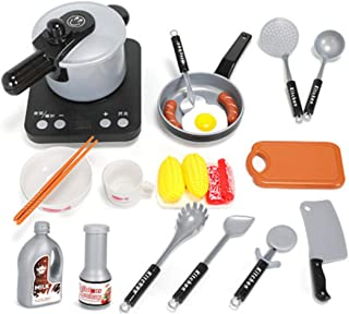 Coxeer Cooking Toy Set Creative Pretend Play Toy Kitchen Playing Set for Children