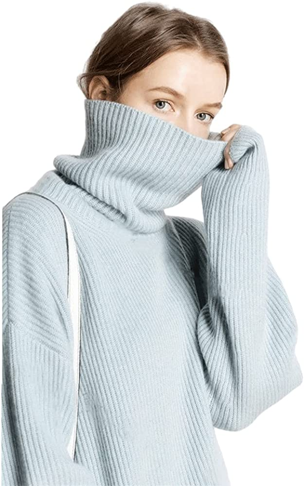 Turtleneck Sweater Women Loose Lazy Wool Albuquerque Mall Pullover Great interest Autumn