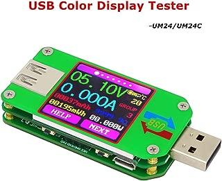 Power Meter, KKmoon USB Digital Power Meter Tester Multimeter Current and Voltage Monitor Color LCD Display Tester Voltage Current Meter Voltmeter Ammeter UM24 No Communication Version