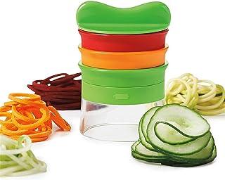 Twinstar ベジヌードルカッター 野菜カッター 野菜カッター スライサー 手動 細い おろし器 野菜ヌードルカーリーチップ用 キッチン家庭用 (トリプル)