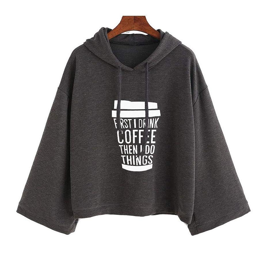 乞食シンカン万歳SakuraBest 女性の長袖フード付きプリントバットスリーブスウェットシャツ