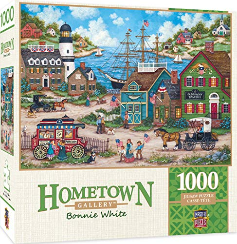 Masterpieces Hometown Gallery Jigsaw Puzzle, The Young Patriots, Featuring Art by Bonnie White, 1000Piece -  MasterPieces Puzzle Company, 71935