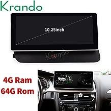 Krando - Radio para Coche Android 8.1 de 10,25 Pulgadas, DVD, para Audi Q5 2009-2015 con Bluetooth, 4 + 64 G