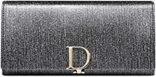 Pusaman The New Women's Long Wallet, Pearl D Buckle high-Capacity Multi-Card Wallet Genuine Leather (Color : Gray, Size : 19 * 9.5 * 3.cm)