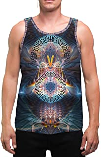 StarGates | Mens | Tank Top | Spiritual | Aesthetic | Clothing | Tanks | Rave | Psychedelic | Festival | Sacred Geometry | Cosmic