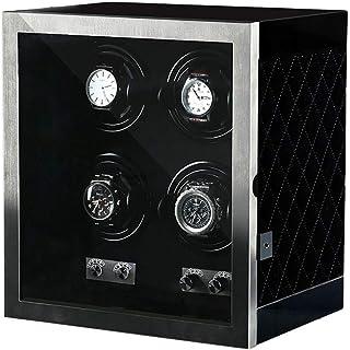 Glittel - Cajas Giratorias para Relojes, Watch Shaker, Soporte De Exhibición De 4 Dígitos, Caja De Reloj Electromecánica,Luz Silenciosa Y Led, Caja De Almacenamiento Giratorio para Relojes Mecánicos