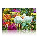 Five-Seller Flores En El Jardín De Primavera Pintura Al óleo Moderna sobre Lienzo Pop Arte Impresión De Imagen De Pared Abstracta para Decoración De Cuadros De Sala De Estar (Sin Marco,70_x_100_cm)