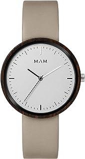 Mam originals Mens Analog Japanese quartz Watch with Leather bracelet PLANO 645