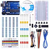 UNIROI Starter Kit Tutorial and UNO R3 Compatible with Arduino IDE Projects, Suitable for Arduino Beginners to Learn,Included CD Tutorial,147 Projects