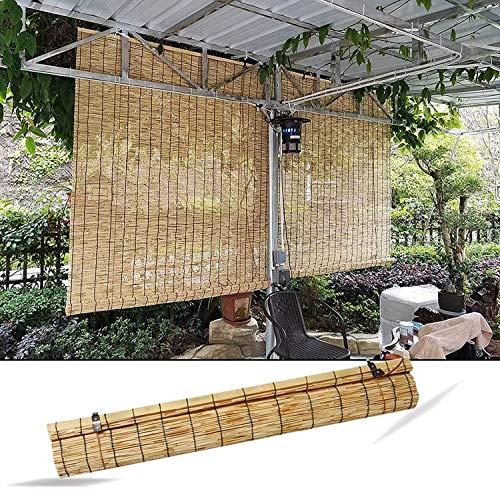 XRDSHY Bamboo Rollo, Rollo Bambú Bambú Persianas De Bambú Al Aire Libre, Retro Cortina a Prueba De Viento con Accesorios, Rollo De Madera para La Puerta De La Ventana,150 x 175 cm (59 x 69 in)