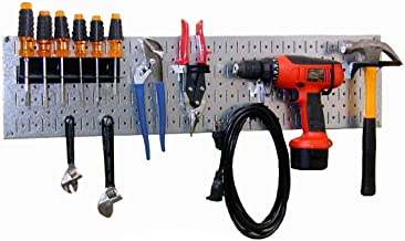 product image for Wall Control 30-WRR-100GVB Galvanized Steel Pegboard Starter Kit