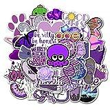 100PCS 10 / 50pcs / Set Dibujos Animados Púrpura Decorativa Pegatinas para Maleta Skateboard Pegatina Portátil Pegatina para Niños Regalo Juguetes Calcomanías Etiqueta estéticas