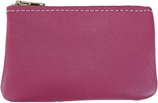 product image for North Star Men's Leather Zippered Coin Pouch Change Holder (4 X 2.5 X 0.25 Inches, Pink)