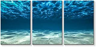 """SIGNFORD 3 Piece Canvas Wall Art for Living Room Bedroom Home Artwork Blue Ocean Sea Paintings Ready to Hang - 16""""x24"""" x 3 Panels"""