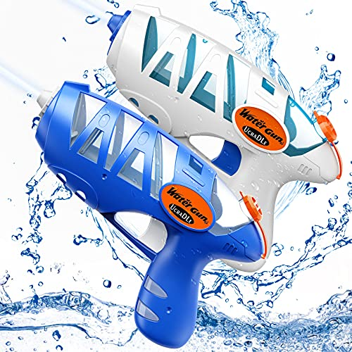 Ucradle Water Pistols, 2 Pack Small Water Guns for Kids Blaster Water Guns...